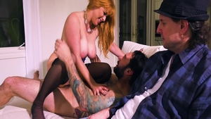 Rough hard pounding accompanied by erotic stepmom Penny Pax