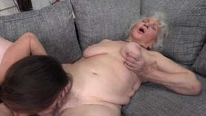 Young granny Tiffany Doll pussy licking