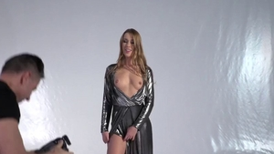 Supermodel Alexis Crystal raw double penetration in public HD
