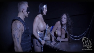 Chained along with large tits MILF Christina Carters