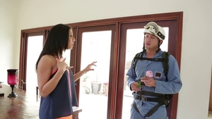 Perfect brunette Rachel Starr has a thing for hard ramming HD