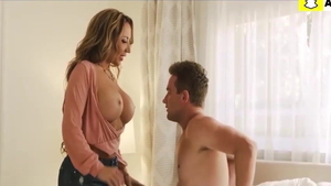 Sucking dick along with big boobs MILF Richelle Ryan