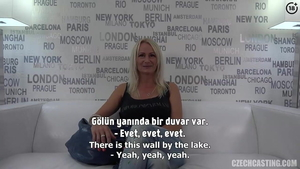 Large tits turkish mature sucking dick at the casting