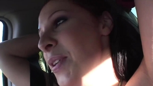 Stiff redhead Gianna Michaels rough throat fucking in HD