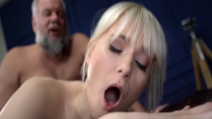 Rough sex in company with girl Miss Melissa