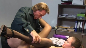 Doggy style in office in HD