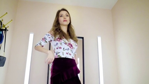 Perfect body brunette Mila Azul craving nailing in HD