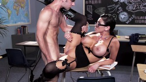 Audrey Bitoni in her lingerie got nailed after school