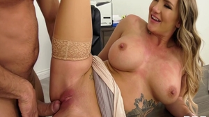 American blonde Cali Carter ass pounded
