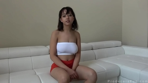 Marilyn Mansion cowgirl sex at casting