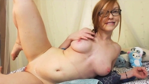 Hot redhead squirting on webcam in HD