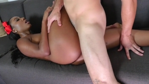 Big butt ebony babe Chanell Heart loves nailing