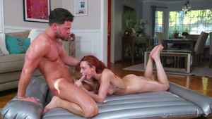 Rough ramming hard together with hairy pornstar Lacy Lennon