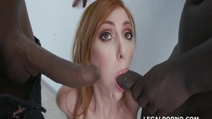 Big boobs redhead Lauren Phillips agrees to swallow