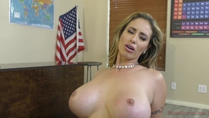 Blonde Eva Notty goes for hard nailining in lingerie in HD