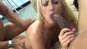 Hard slamming together with blonde Angel Long