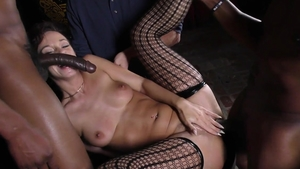 Wife Jada Stevens helps with nailing in her lingerie