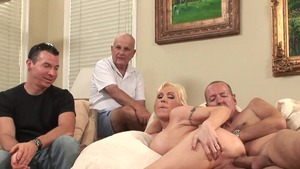 Charming MILF goes for creampie