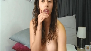 Solo shaved & super juicy girl fingering
