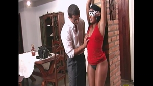Sexy charming chick experience blindfolded HD
