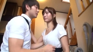 Young japanese neighbor sucking dick HD