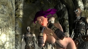 Skyrim the best sex in the company of zombie