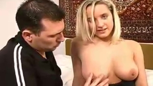 Busty russian blonde goes for raw fucking