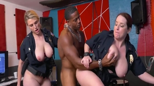 Crazy hard nailining with large tits cop