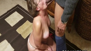 Horny amateur rushes real fucking