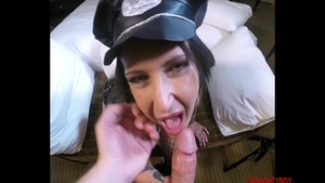Hot police officer blowjobs