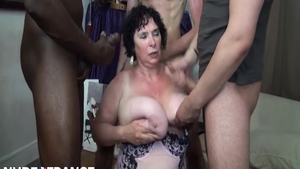 Big butt MILF 3some in HD