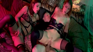 Plowing hard in the company of very hot chick Alexis Crystal