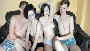 Pussy fucking live on webcam next to beautiful couple