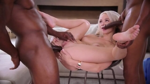 Blonde Elsa Jean wearing jeans cumshot