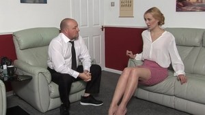 Spanking together with blonde