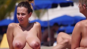 Huge tits mature receives voyeur pussy fucking in public