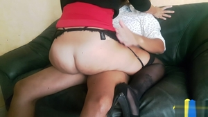 Slamming hard in the company of big ass amateur