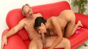 Sexy Valery Summer cum in mouth doggy fucking