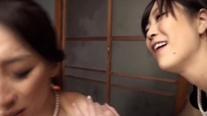 Asian lesbo pussy humping