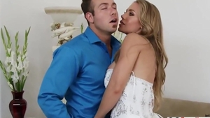 Hard fucking in company with large tits mature