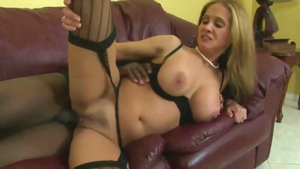 Big boobs blonde goes in for plowing hard in sexy stockings HD