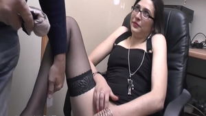 Petite french chick double penetration in HD