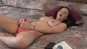Big boobs babe sex toys solo