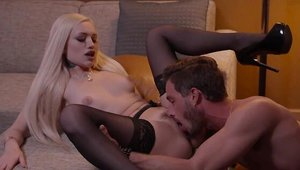 Amazing Alex Grey and Lucas Frost doggy fuck on sofa