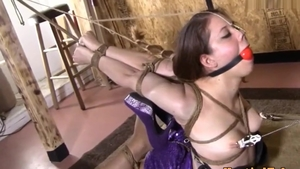 BDSM in the company of brunette