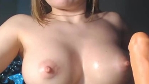 Toys on webcam next to big tits babe