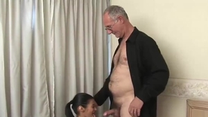 Babe smashed by big dick daddy