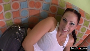 Brunette Gianna Michaels cumshot