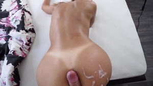 Sweet bubble butt MILF rough fucked in the ass