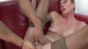 Charming passionate french slut romantic pussy fucking in HD